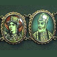 Early Victorian Mogul Portraits Bracelet